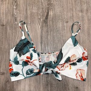 Molly Green Palm Print Bralette Size Small